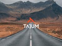 Tajum logo design