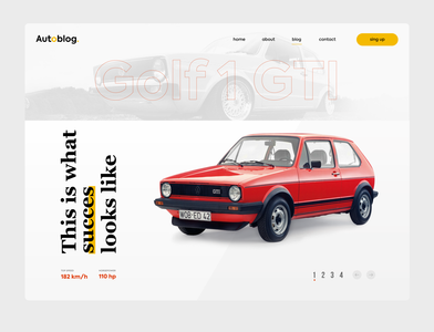 VW MK1 GTI tribute website page