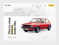 VW MK1 GTI tribute website page