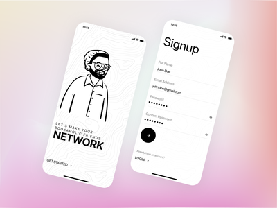Simple Mobile App Signup Screen UI Design signupform signup signin page app ux uiux uidesign ui figma
