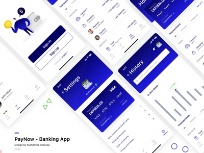 PayNow - Mobile Banking App banking app ui money app bank app mobile bank mobile banking banking app illustration app ux uiux uidesign ui figma