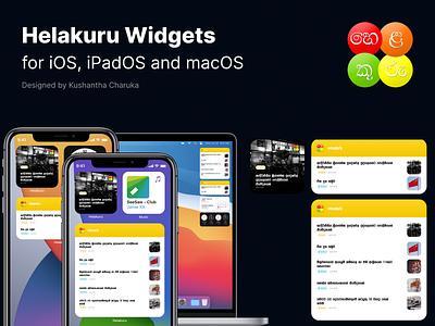 iOS 14 Widgets for Helakuru App helakuru apple widgets figma widget designs ios widgets ios 14 widgets ios 14 widgets