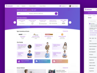 Kariyer.net Homepage post job listing jobs career web ux ui typography minimal illustration form design kariyer button branding