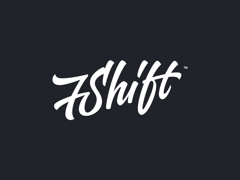 7Shift lettering logo typography custom hand-writing identity design id handdrawing web theme wordpress