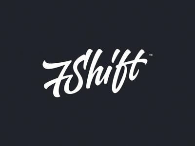7Shift lettering logo typography custom hand-writing identity design id handdrawing web theme wordpress