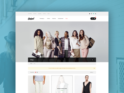Shop shop wordpress theme breadcrumb search product header navigation