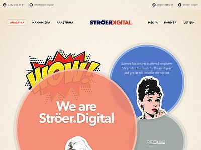 Ströer.Digital Concept Design retro popart modern header navigation typography icon