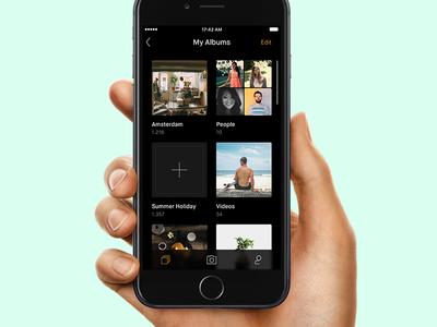 iOS Photo App [WIP] blur photo ui minimal ios app