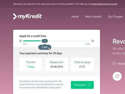 myKredit Facelift ui credit typography button redesign facelift fintech finance