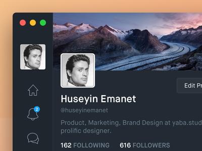 [Rebound] Twitter for Mac profile dark macos twitter twitter app timeline feed tweet