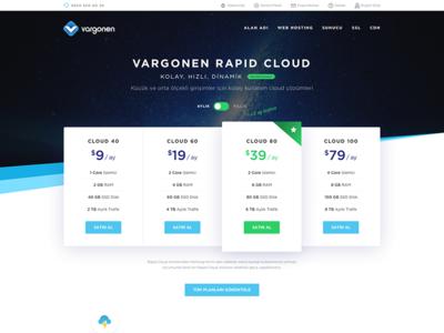 Vargonen Rapid Cloud vargonen hosting cloud enterprise gradient popover typography layout button