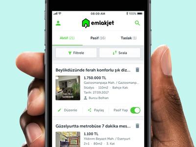 Emlakjet Kurumsal [WIP] 🏡 icons ios android minimal real estate realtor emlakjet turkish