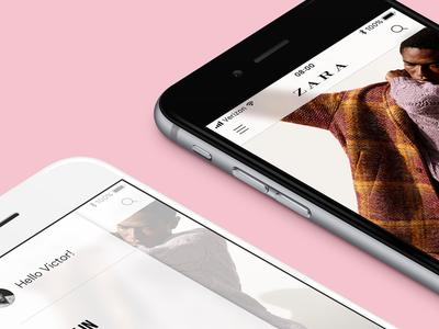 ZARA typography photos blur iphone ios clothing zara