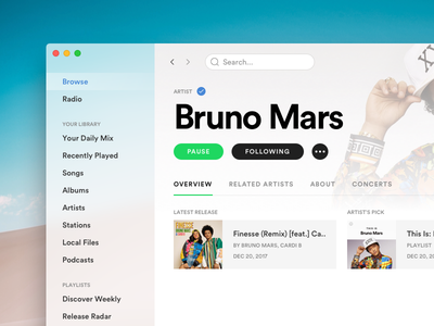 Spotify for macOS [WIP] spotify redesign spotify app spotify sketch redesign os x app os x music mac redesign mac app mac concept