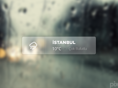 Weather Widget (PSD) weather widget psd icon ui istanbul