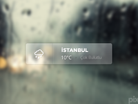 Weather Widget (PSD)