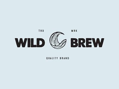 Wild Brew craft brand layout typography branding illustrator vector logo graphic illustration design
