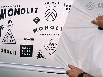 Monolit wrap vw vector illustrator illustration typography design typogaphy logo vanlife van branding brand wrap foil