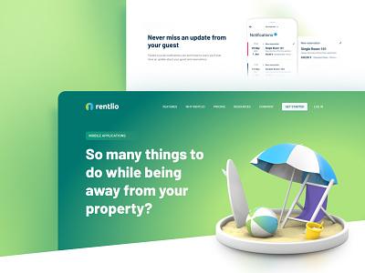 Mobile app landing page landing page landingpage saas app saas website saas typography app ux ui branding web design
