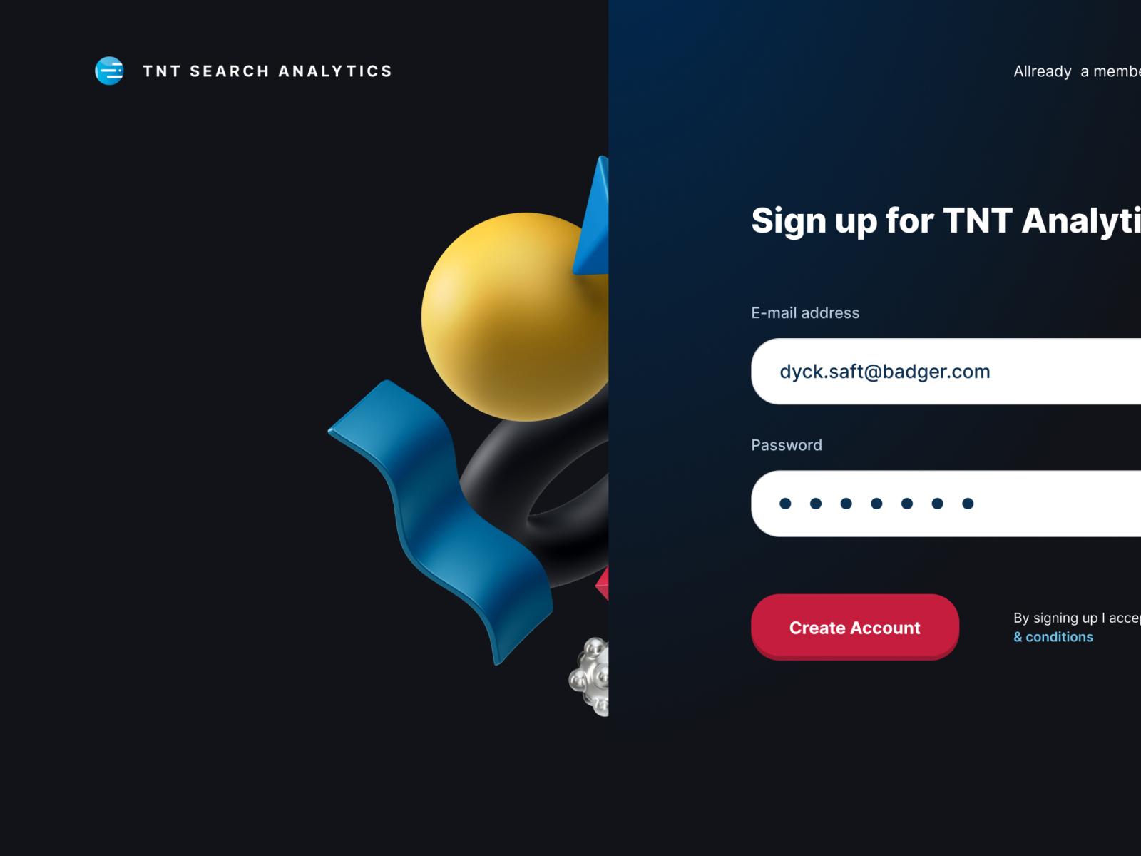 TNT Analytics Signup