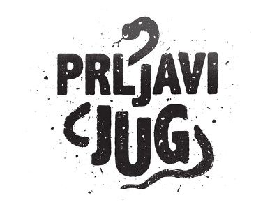 South patch grunge vintage drawn type logo