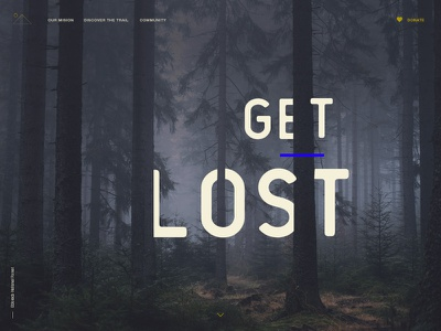 Let's Get lost day 03 concept design outdoor trail web ux ui daily ui dailyui landing lost
