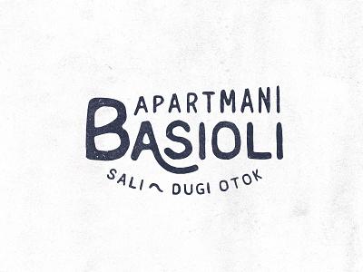Apartment logo hand drawn typography type design logo