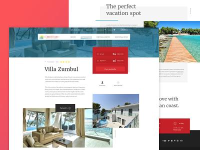 Hotel&Resort sea summer typo grid layout graphic web resort design hotel
