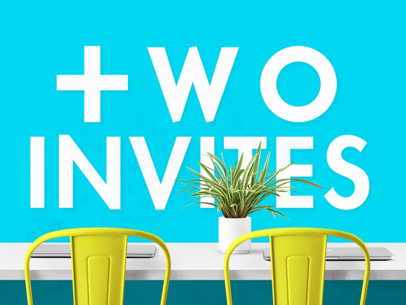 Dribbble Invites plant color design desk chair invitation invites dribbble invite