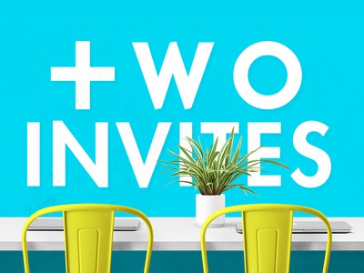 Dribbble Invites plant color design desk chair invitation invites dribbble invite