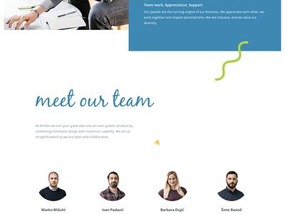 About us sketch team grid web design layout graphic design web about rentlio