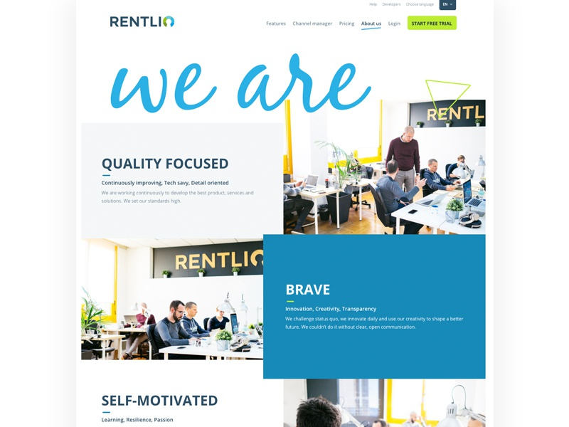 About us sketch team grid web design layout graphic design web about rentlio