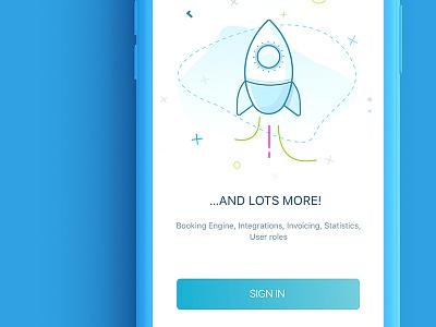 Mobile onboarding signup illustration app onboarding blue graphic design mobile