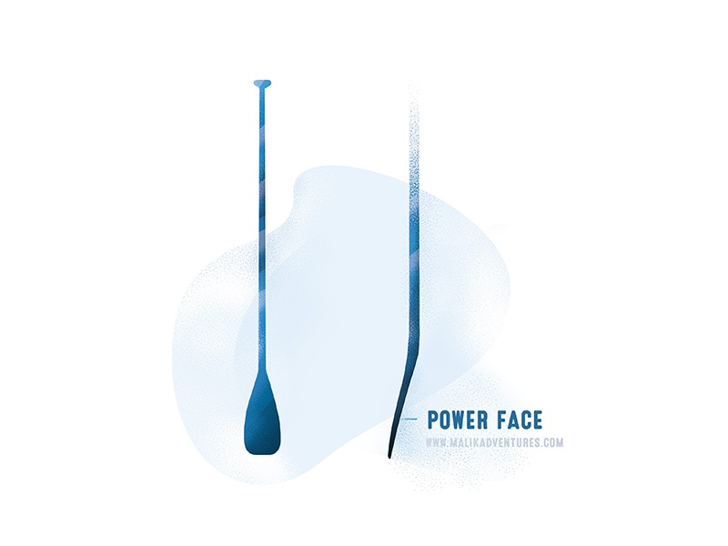 Power face brush stipple design graphic blue illustrator illustration stand paddle board board paddle sup