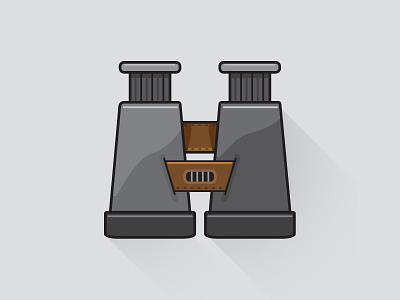 Binoculars explore adventure trail hiking icon vector illustrator illustration graphic design