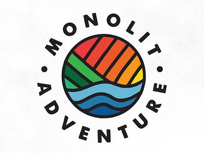 Sea Mountain blue logo design branding vector illustrator illustration