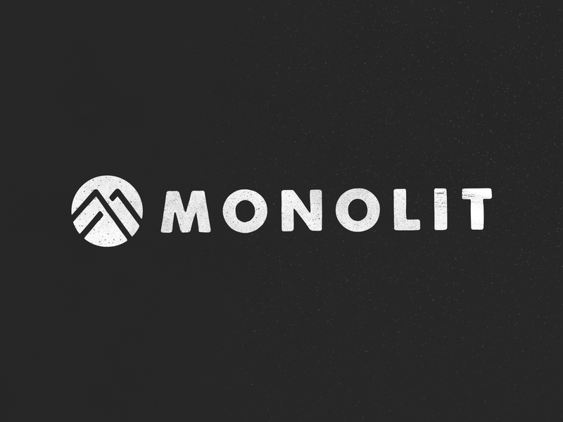 Monolit logo graphic icon illustrator typography branding vector logo illustration design