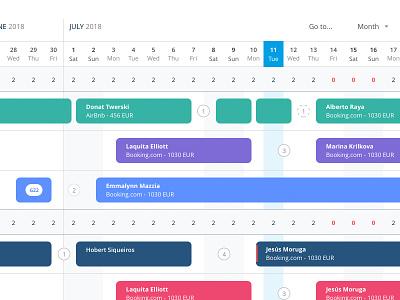 Reservations calendar application webapp calendar app ui ux calendar ui calendar web graphic design