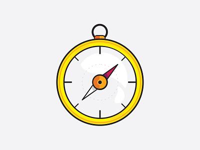 Compass icon vector graphic illustrator illustration design