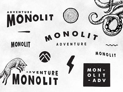 Monolit brand vanlife hike outdoor vector logo illustrator illustration graphic design