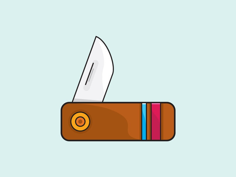 Knife mountain camp hike camping knife icon vector illustrator illustration graphic design