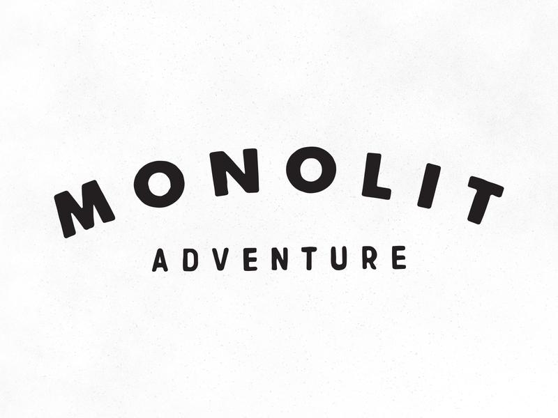 Monolit layout typography branding vector logo type icon illustrator graphic illustration design