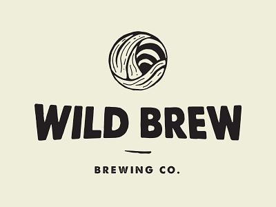 Wild Brew typo brew beer season wave mark identity design identity brand brand design brand identity layout stipple illustrator logo typography branding illustration graphic design