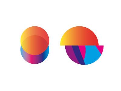 Sunset Sunrise sunny mesh color sunrise sunset sea sun ui branding icon blue vector illustrator illustration graphic design logo design logo