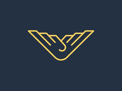 Falcon mark design typography logo vector illustrator illustration brand branding grapicdesign graphic sign bird falcon heavy falcons
