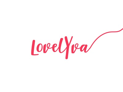 LovelyYva icon layout branding typography vector logo illustrator illustration graphic design