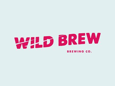 Wild Brew illustration web graphic logo vector illustrator branding brewing company brewery logo beer brand brew design