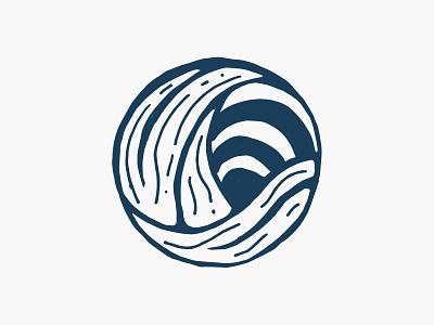 Wave sunset mark identity design water wave logo sunset wave brand branding vector illustrator illustration graphic design