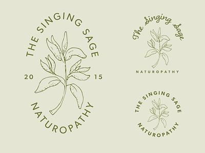 Singing Sage Concepts botanical logo branding adobe illustrator hand drawn illustration