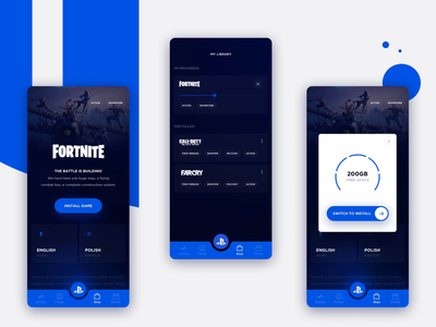 PlayStation Store Mobile - Concept Design